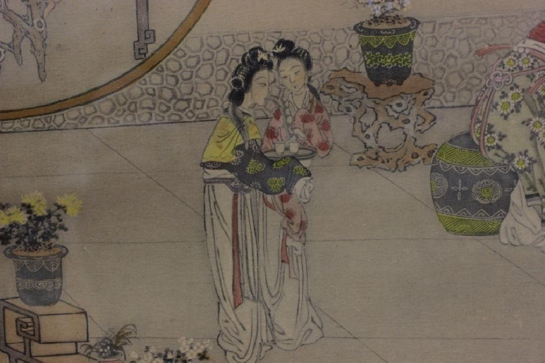 2 Chinese Paintings,  Framed - 9