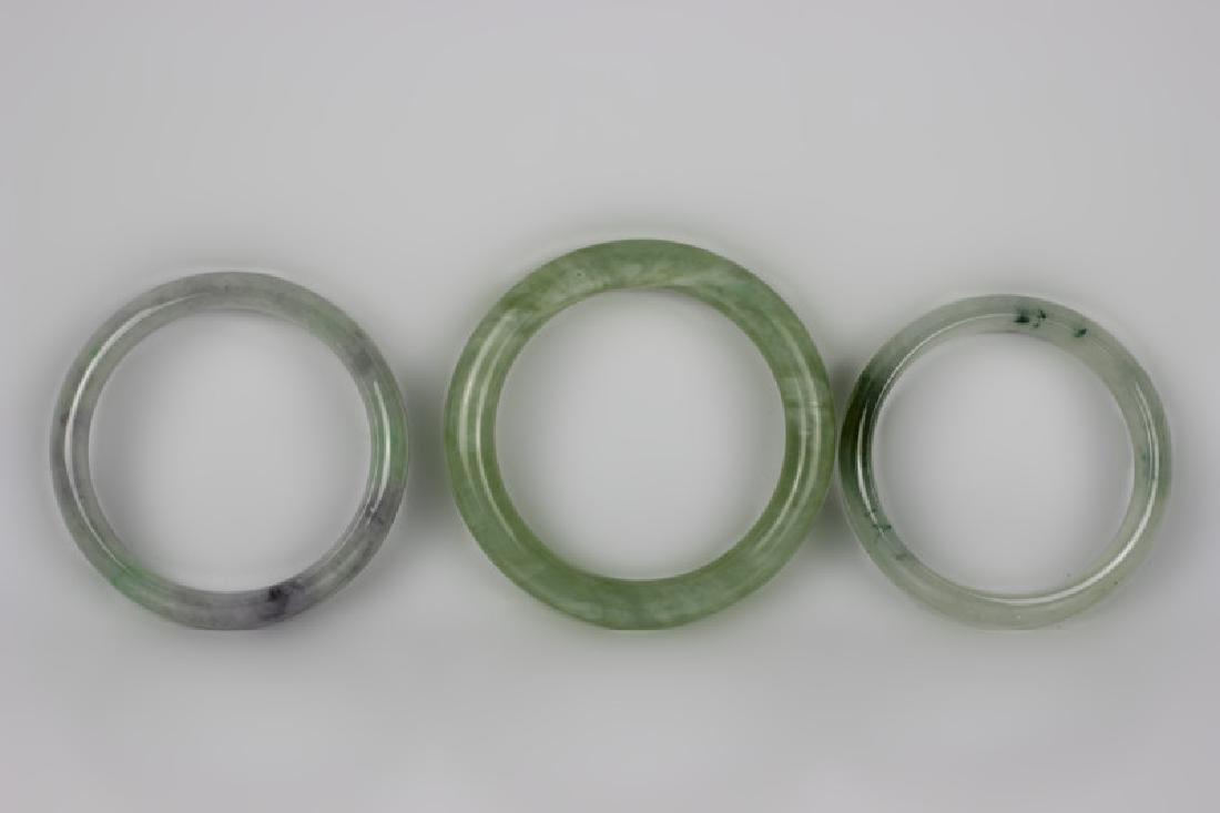 3 Chinese Stone Bracelets