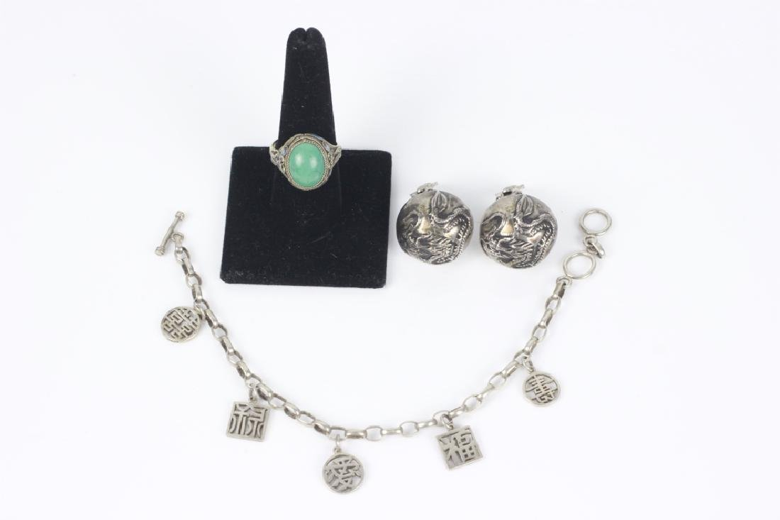 3 Chinese Silver Items