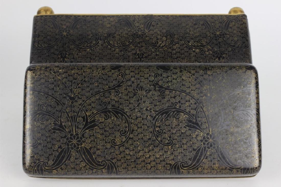 3 Chinese Metal Boxes w/ Enamel Linings - 10