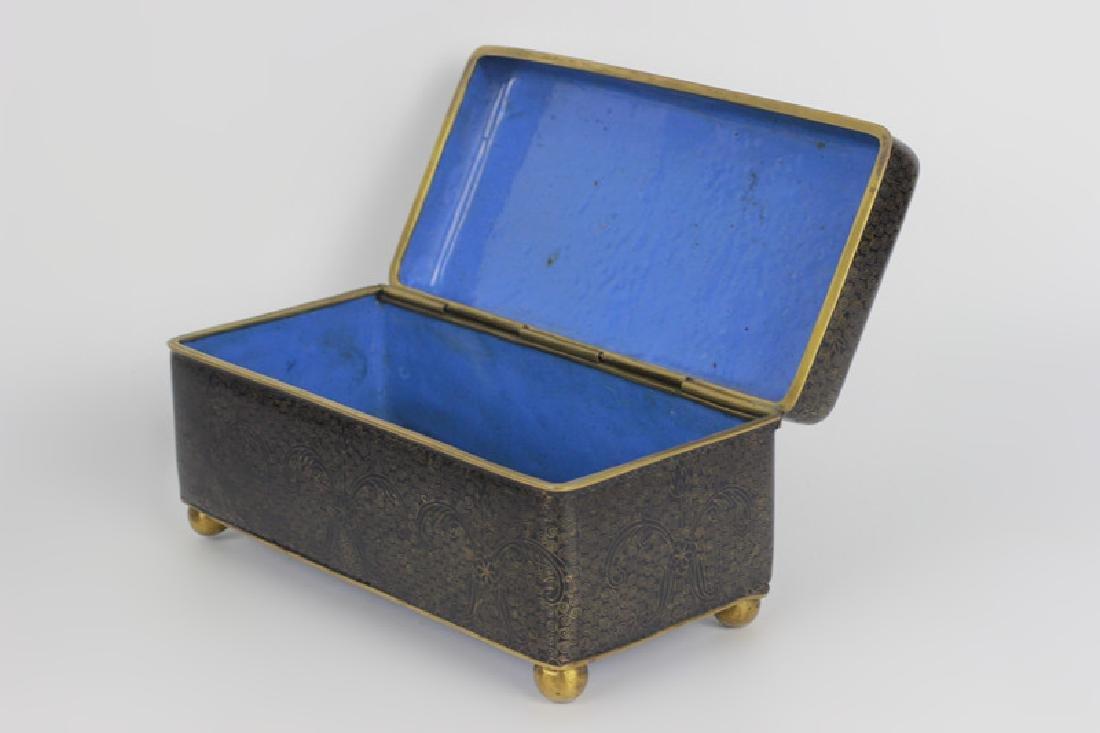 3 Chinese Metal Boxes w/ Enamel Linings - 9