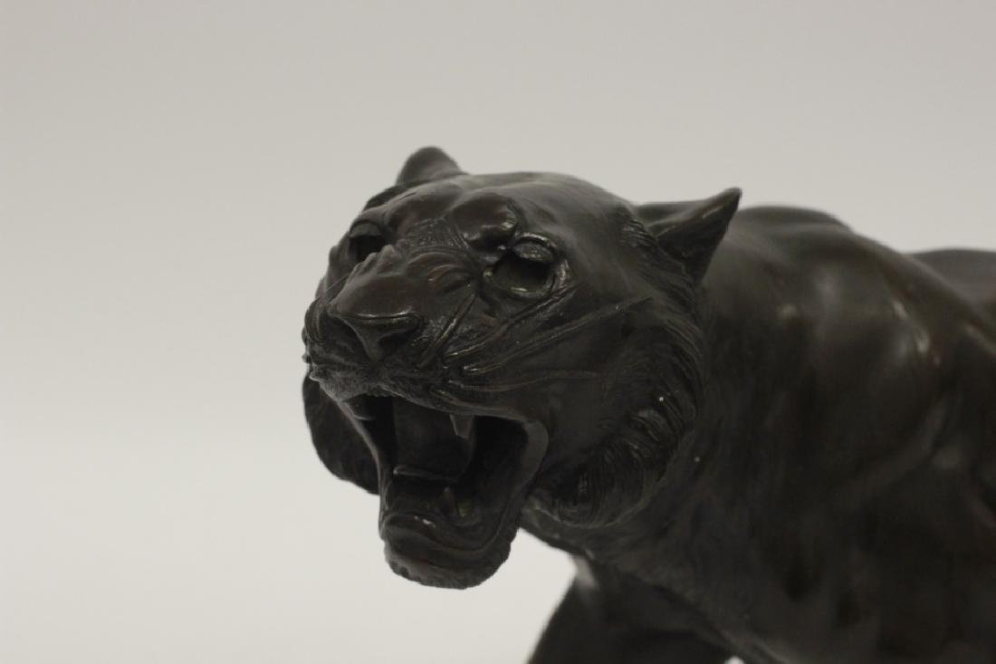19thc Japanese Bronze Tiger, Signed - 2