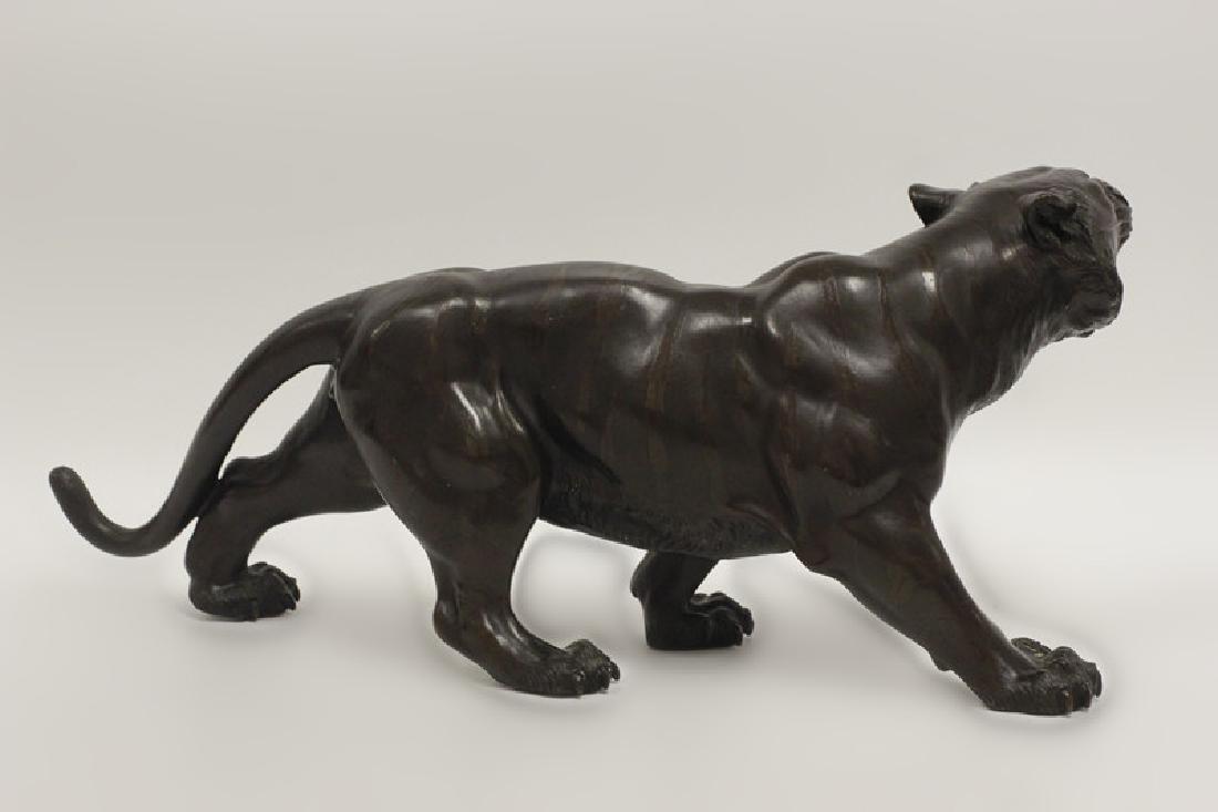 19thc Japanese Bronze Tiger, Signed - 3