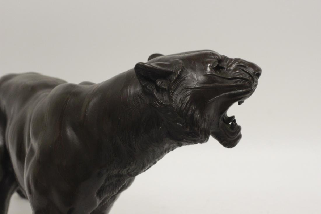 19thc Japanese Bronze Tiger, Signed - 7