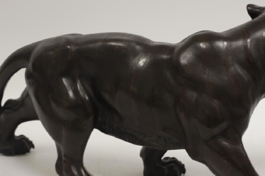 19thc Japanese Bronze Tiger, Signed - 8