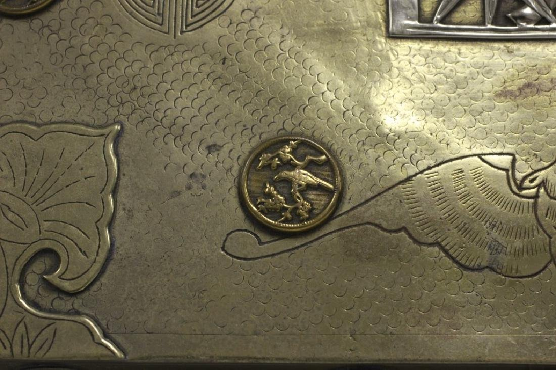 Late 19thc Chines Mixed Metal Box - 10