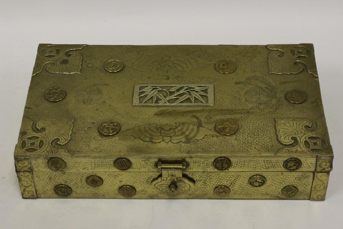 Late 19thc Chines Mixed Metal Box