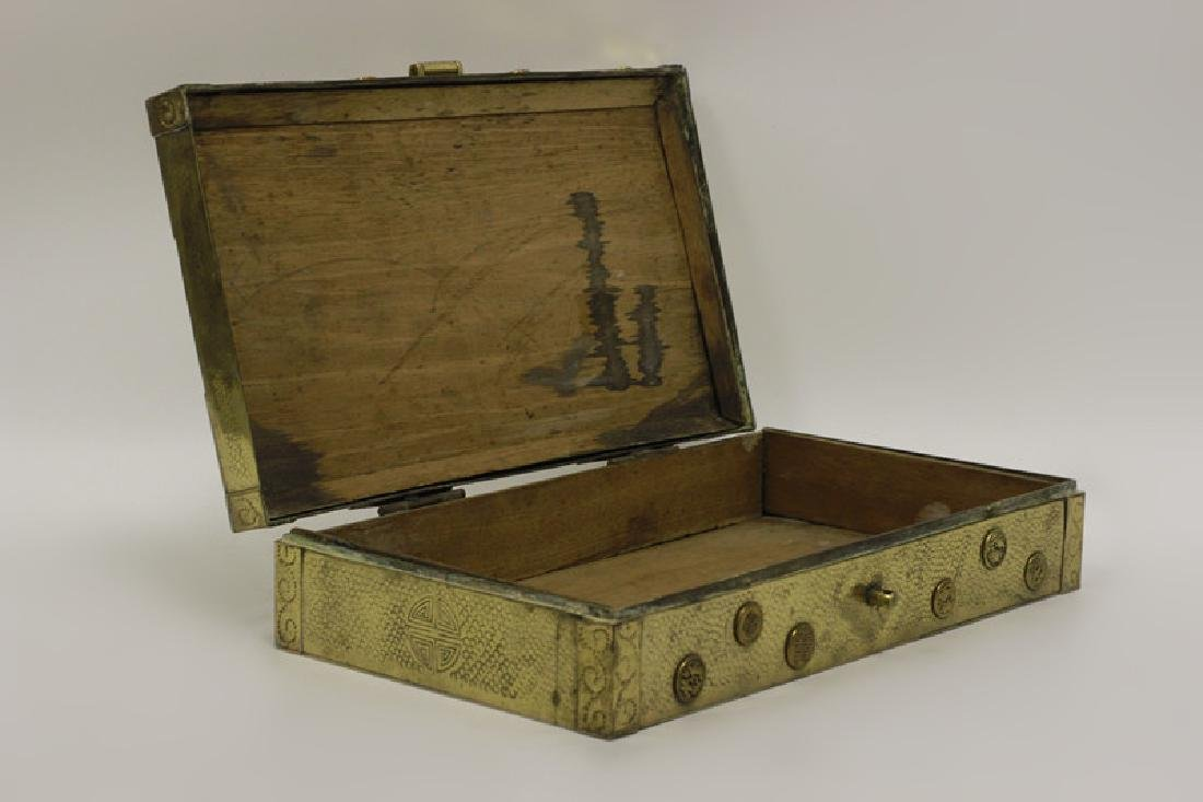 Late 19thc Chines Mixed Metal Box - 2
