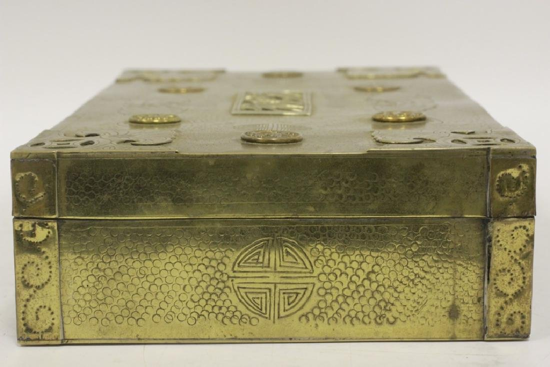 Late 19thc Chines Mixed Metal Box - 7