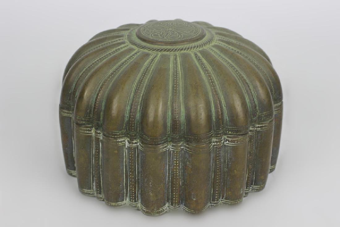 Antique Japanese Bronze Covered Box - 2