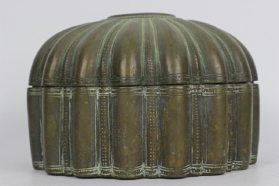 Antique Japanese Bronze Covered Box - 3