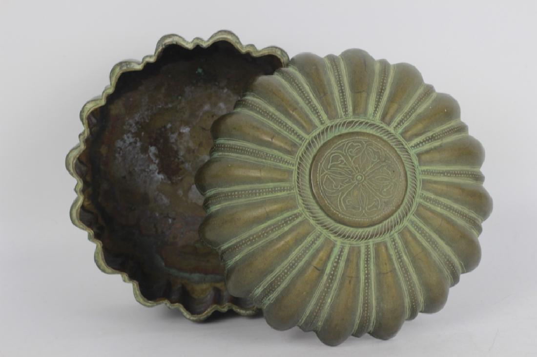 Antique Japanese Bronze Covered Box - 4