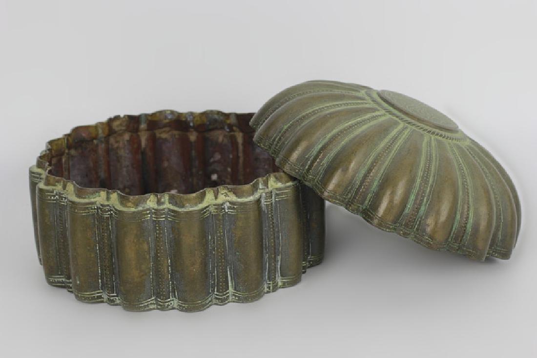 Antique Japanese Bronze Covered Box - 6