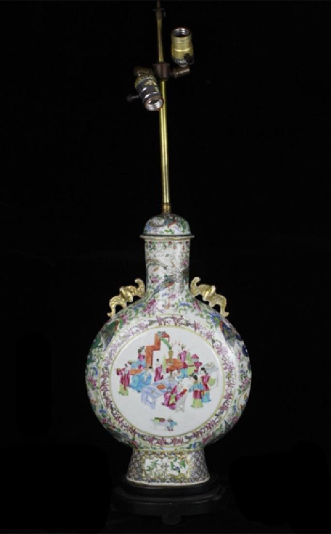 Old Chinese Porcelain Vase Mounted as a Lamp
