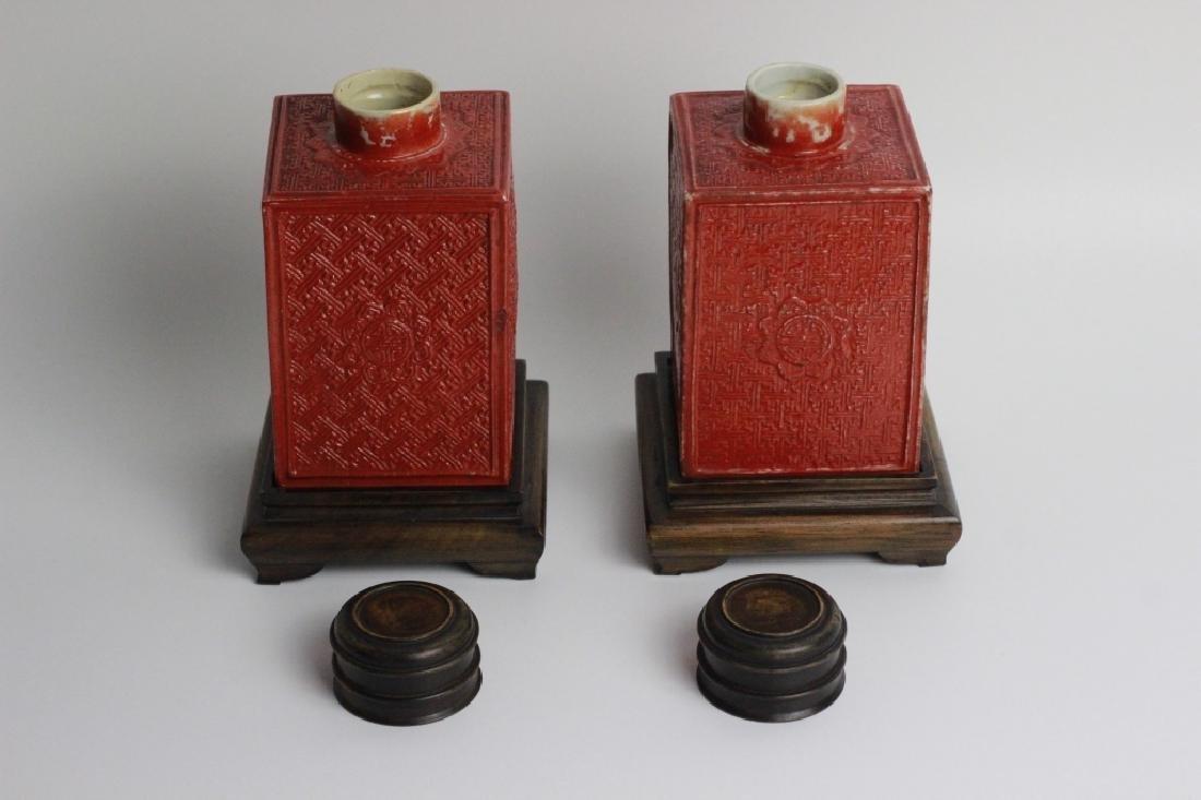 Late 19thc Pair of Chinese Porcelain Tea Caddies - 5