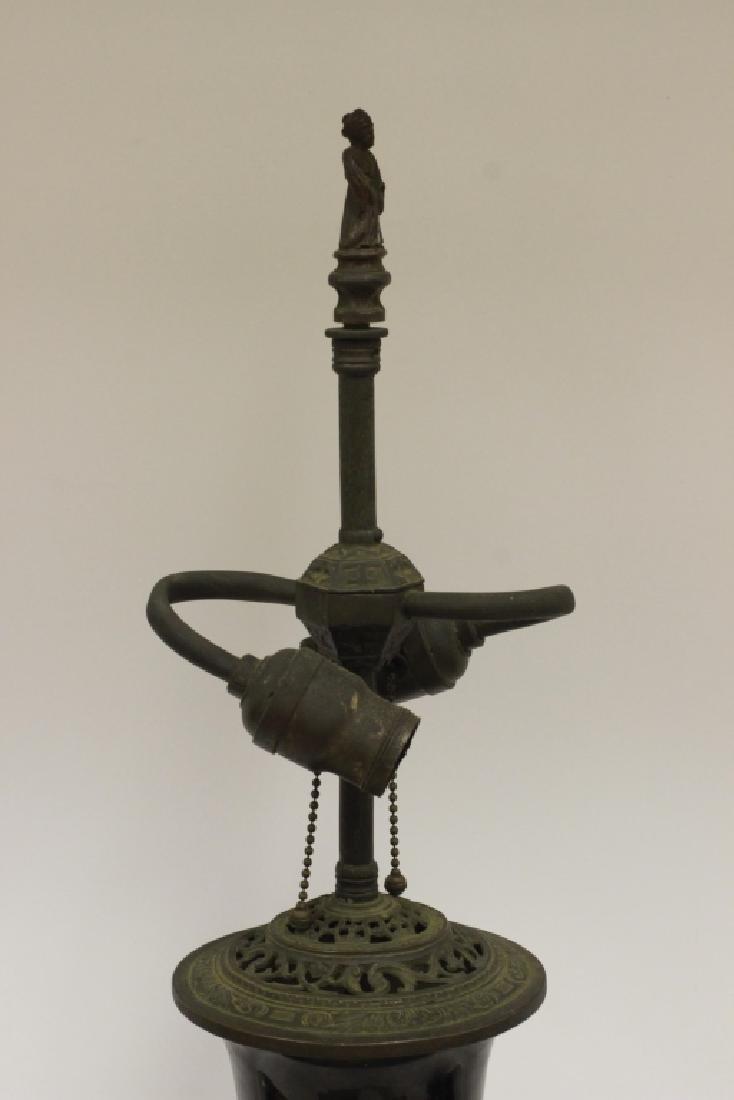 Chinese Black Porcelain Vase Mounted as Lamp - 4