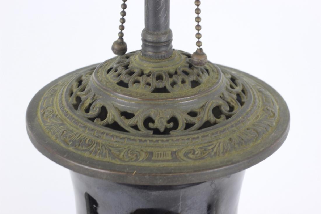 Chinese Black Porcelain Vase Mounted as Lamp - 6