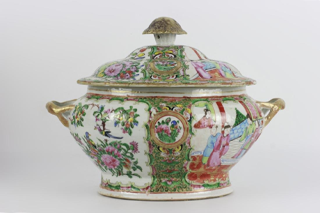 Rose Medallion Covered Bowl