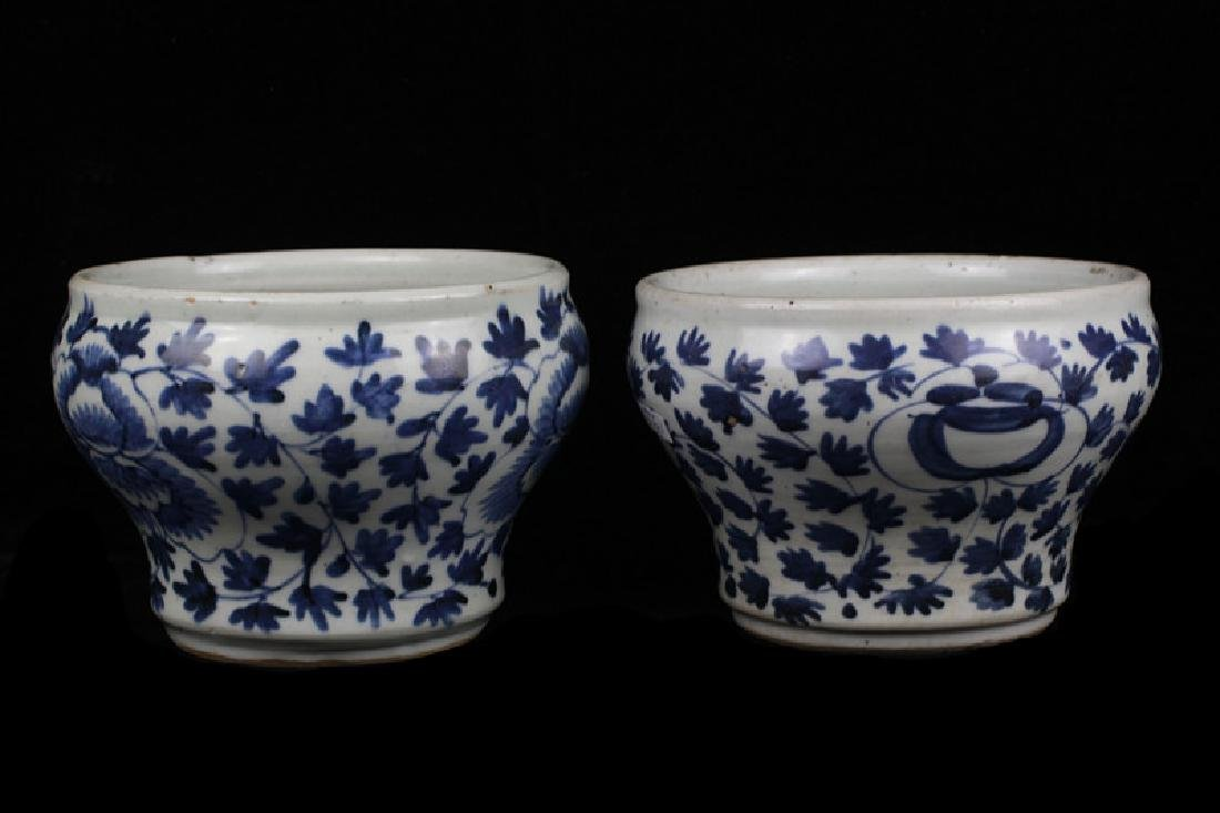 Pair of Old Chinese Bowls - 2