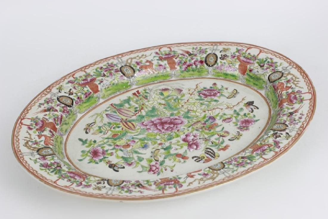 Chinese 19thc Porcelain Export Oval Enamel Plate - 2