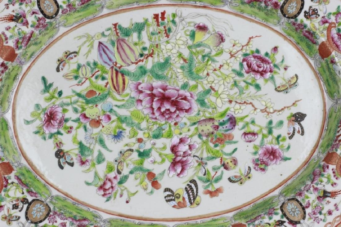 Chinese 19thc Porcelain Export Oval Enamel Plate - 3