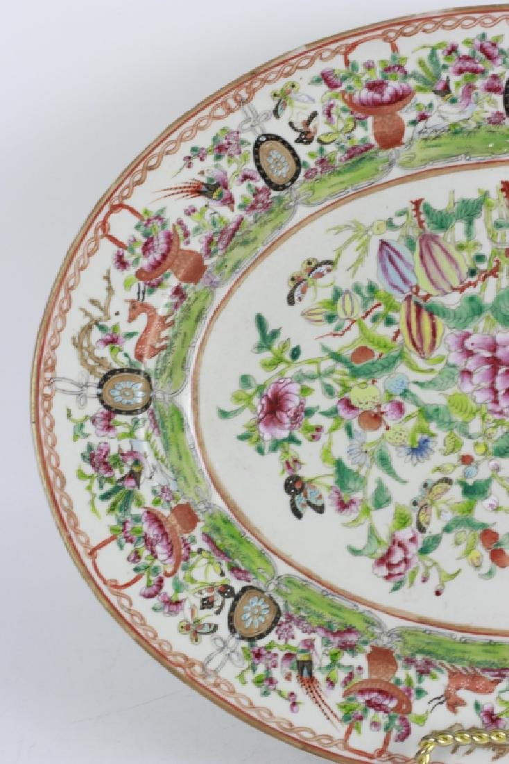 Chinese 19thc Porcelain Export Oval Enamel Plate - 4
