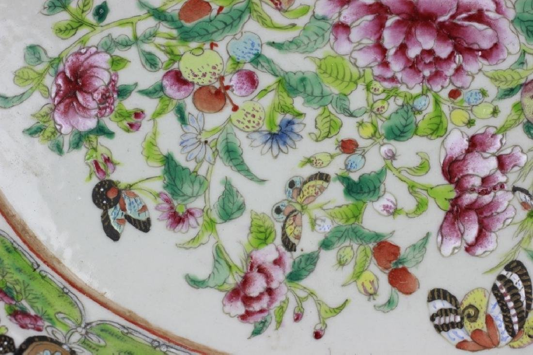 Chinese 19thc Porcelain Export Oval Enamel Plate - 7