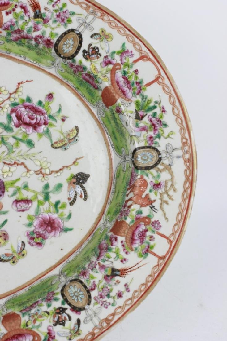 Chinese 19thc Porcelain Export Oval Enamel Plate - 9