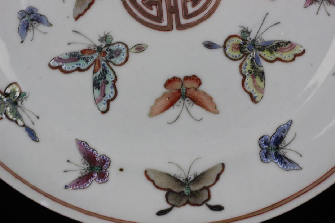 Pair of 19thc Chinese Export Plates - 5