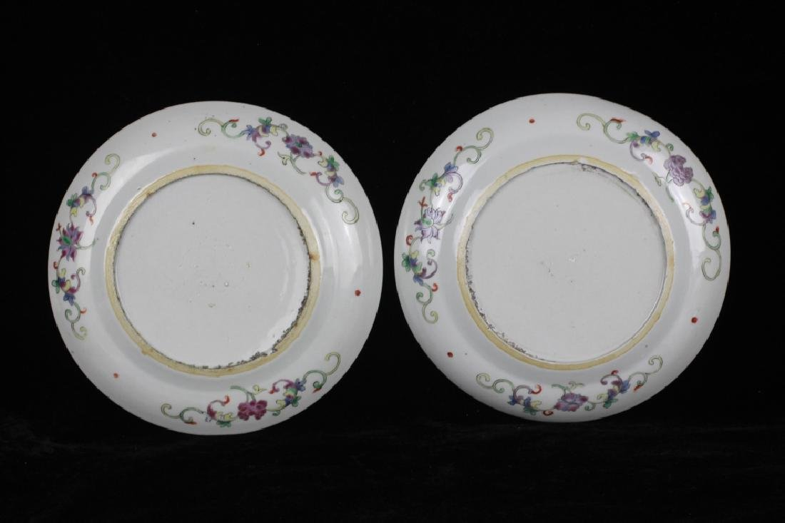 Pair of 19thc Chinese Export Plates - 7