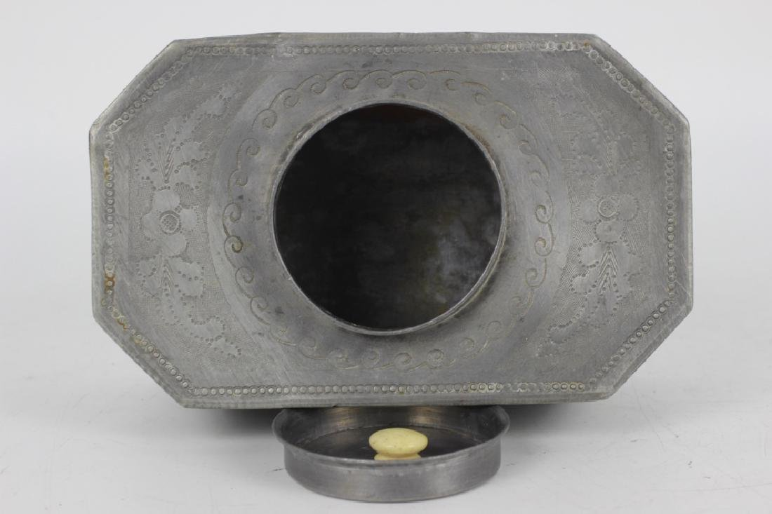 Antique Chinese Gilded Papier Mache Tea Caddy - 8