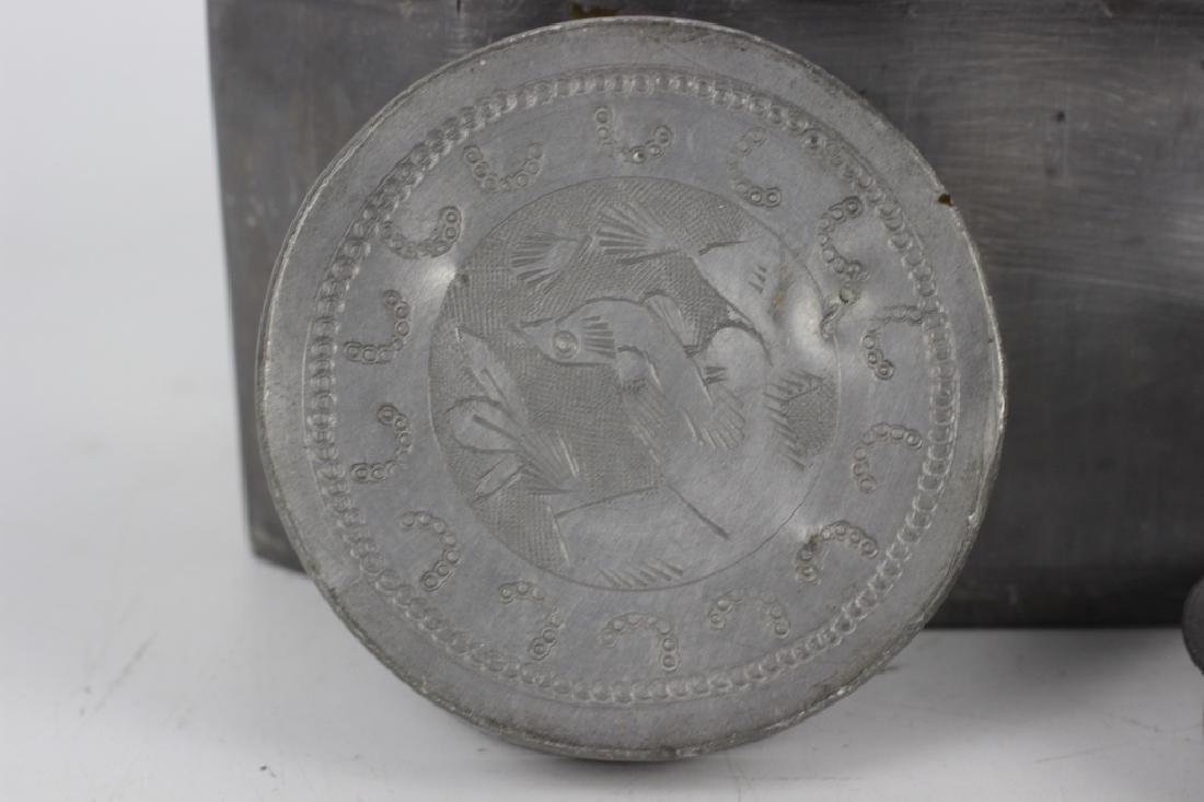 Antique Chinese Gilded Papier Mache Tea Caddy - 9