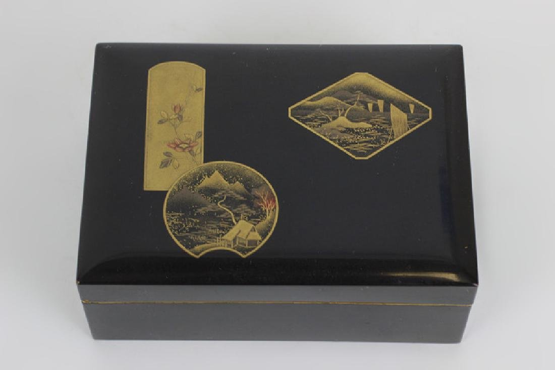 19thc Japanese Lacquer Box, Meiji Period