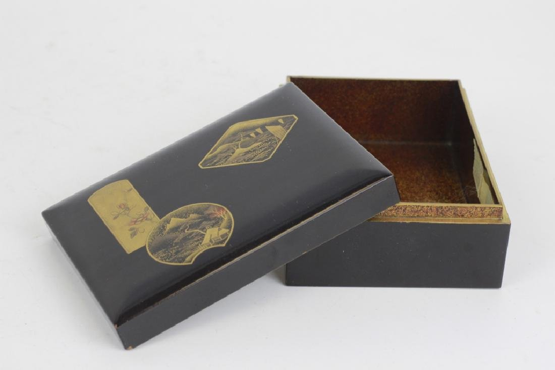 19thc Japanese Lacquer Box, Meiji Period - 2