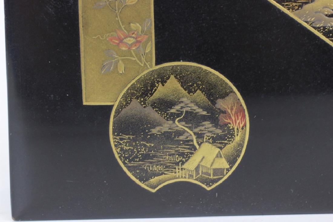 19thc Japanese Lacquer Box, Meiji Period - 5
