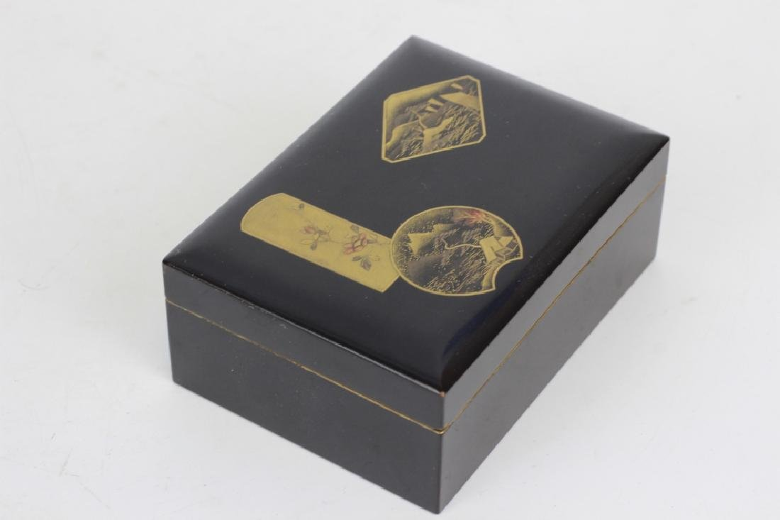 19thc Japanese Lacquer Box, Meiji Period - 7