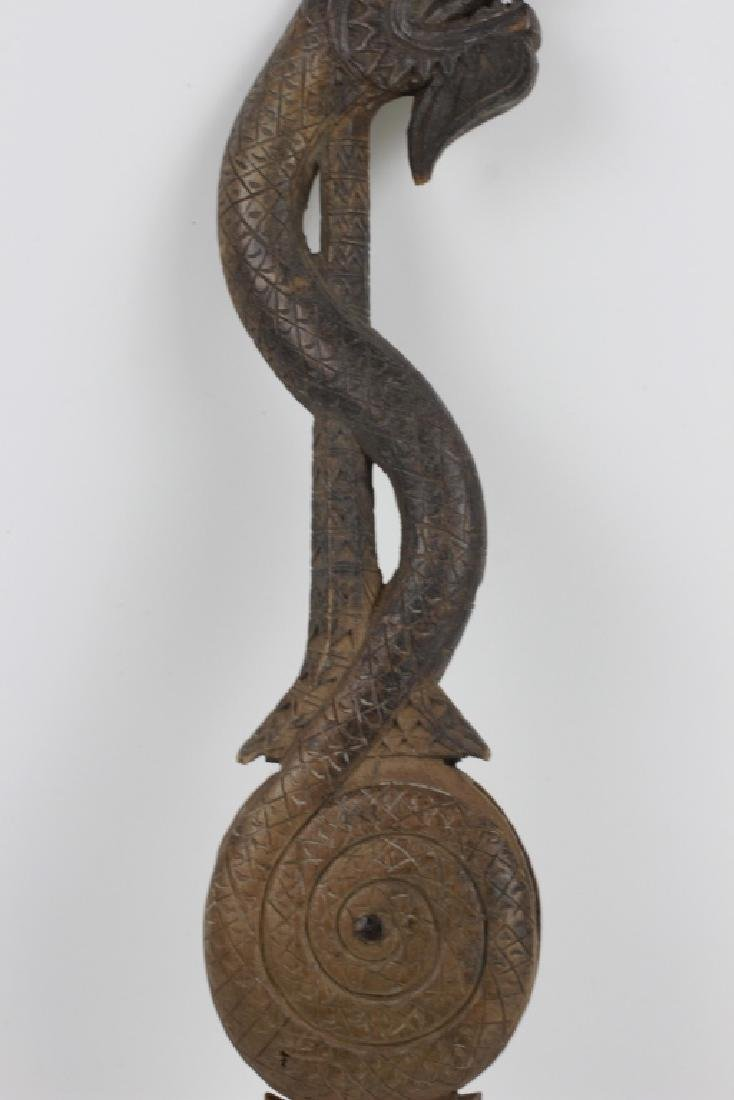 Pair of 19thc Thai Wooden Pulley's - 6