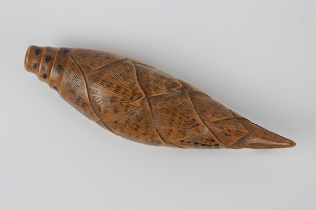 2 19thc Japanese Wood Netsuke Carvings - 3