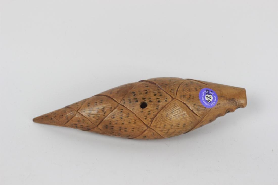 2 19thc Japanese Wood Netsuke Carvings - 5