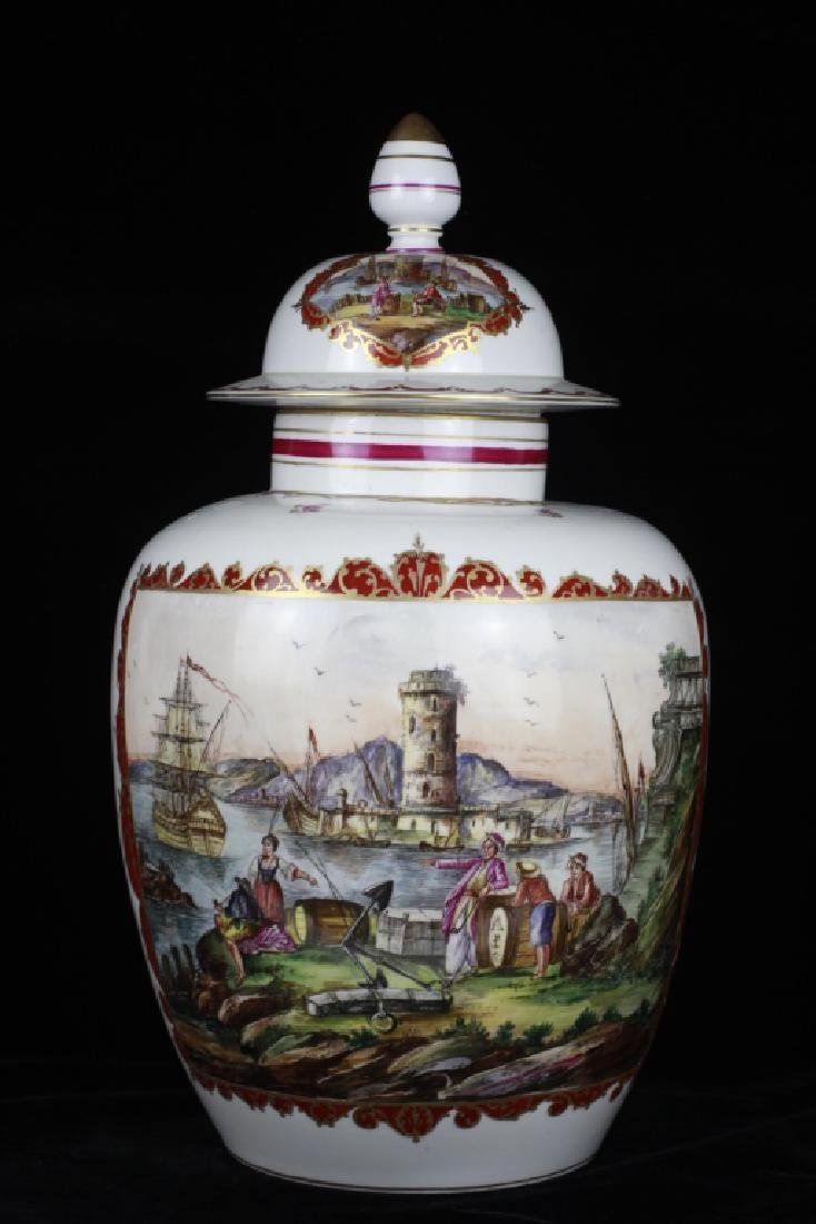 Large Vienna Covered Urn