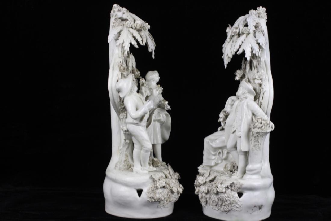 Pair of Italian White Porcelain Figures - 10