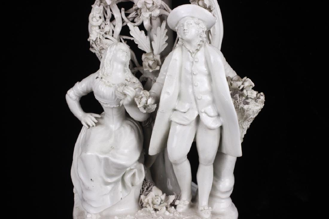 Pair of Italian White Porcelain Figures - 3