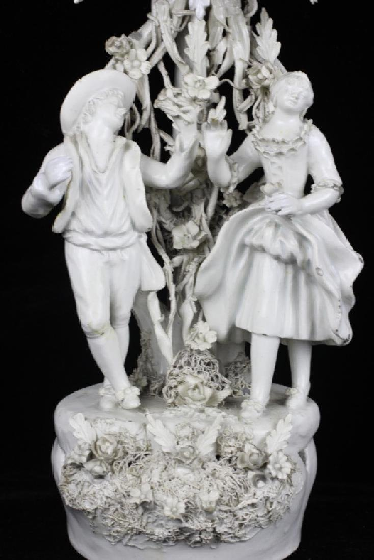 Pair of Italian White Porcelain Figures - 4