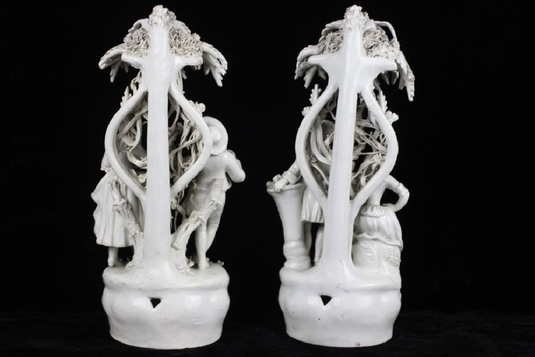 Pair of Italian White Porcelain Figures - 5
