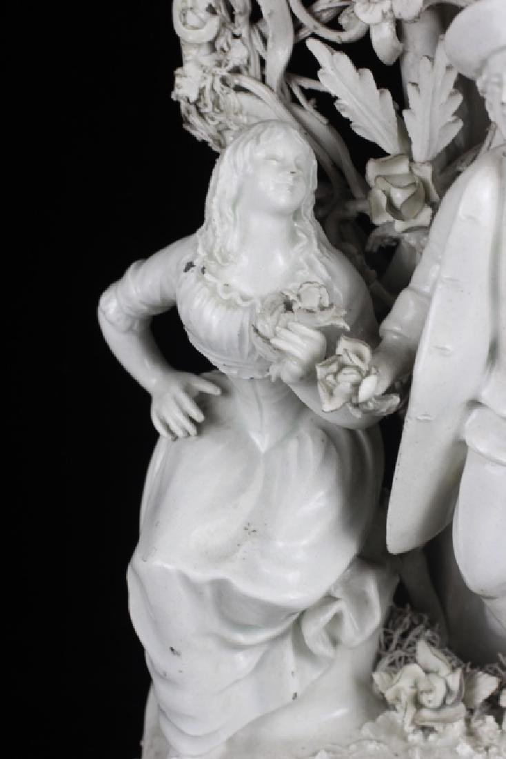 Pair of Italian White Porcelain Figures - 7