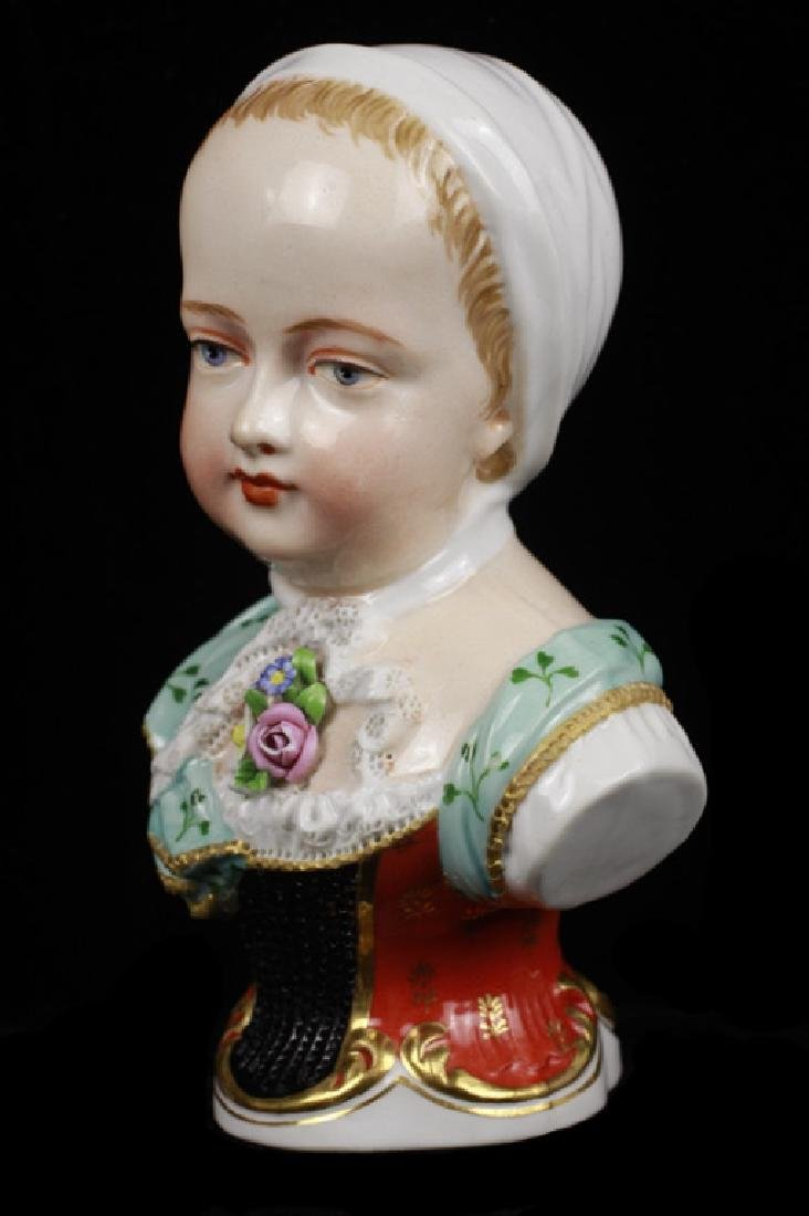 Early 19c 2 Vienna Porcelain Busts of Boy & Girl - 8