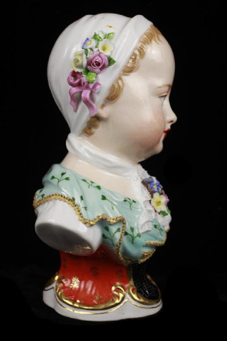Early 19c 2 Vienna Porcelain Busts of Boy & Girl - 9