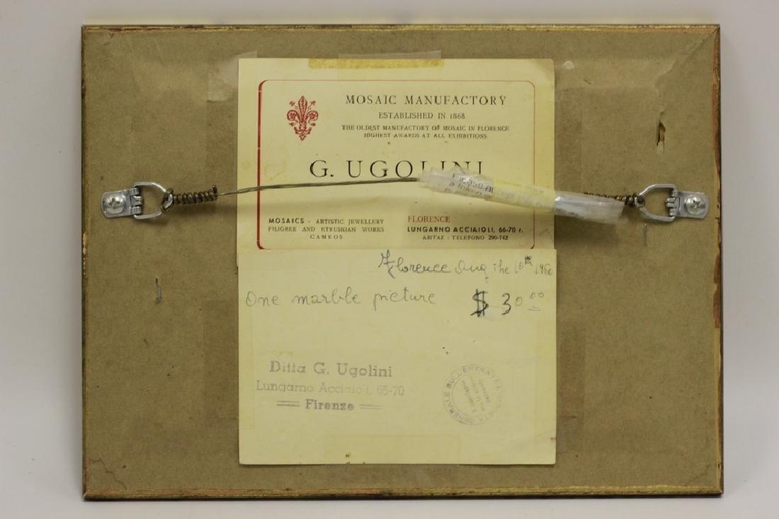 Pietra Dura Plaque, Signed G. Ugolini - 10
