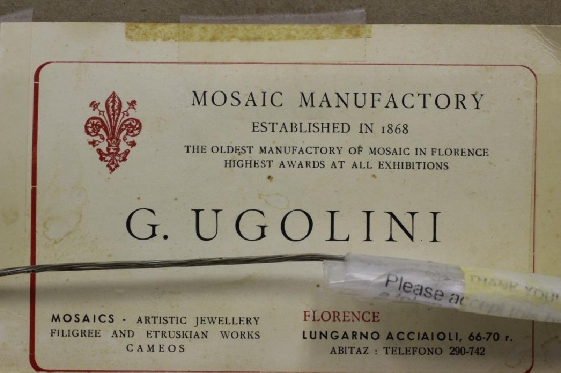 Pietra Dura Plaque, Signed G. Ugolini - 9