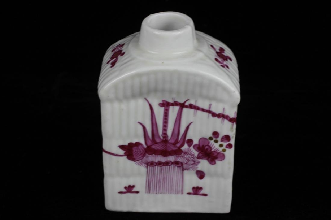 18thc German Porcelain Tea Caddy - 3